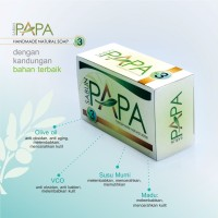 Sabun PAPA No.3 Sabun Susu Pemutih Pencerah Wajah Muka Badan BPOM