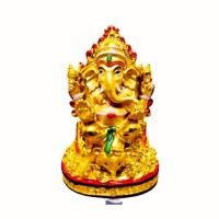Patung Dewa Ganesha 7 Inch Bahan Fiber