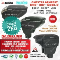 Promo Armrest Box USB - Console Box Brio Mobilio Brv versi rendah