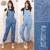 SB Collection Celana Panjang Milda Jumpsuit Overall Jeans Wanita