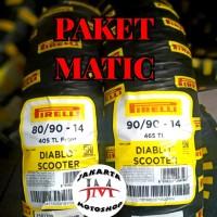 PAKET Ban Matic PIRELLI 80/90-14 & 90/90-14 Diablo Scooter Beat- Vario