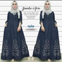 baju wanita gamis aero jumbo jeans muslim modern unik