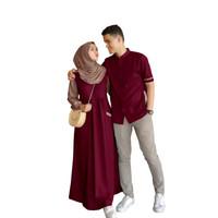 baju muslim couple-baju koko couple-baju muslim pria dan wanita
