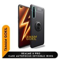 Realme 6 Pro Case Autofocus Invisible Iring SoftCase - Hitam
