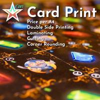 Jasa Cetak Kartu Main / Playing Card Print - 2 Sided Laminated Rounded