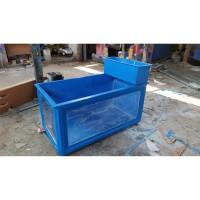 Bak fiberglass aquarium kaca 120 x 60 x 50 + Filter sistem tumpuk