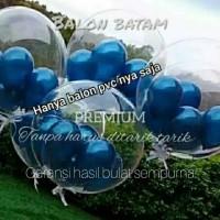 Balon PVC Bobo Transparan Kwalitas Premium 18inch/24inch/36inch