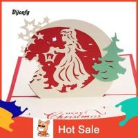 Kartu Ucapan / Undangan Pernikahan / Ulang Tahun Motif Pohon Natal 3D