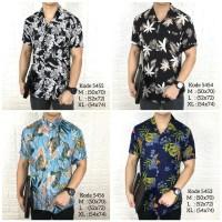 Kemeja floral pria tropical lengan pendek baju pantai cowok - M, 5455