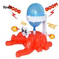 Mainan Balon Kreatif Bentuk Gurita Bahan Plastik Warna Merah untuk