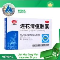 Lien Hua Qing Wen capsules 1 box 24 pcs Obat Herbal demam & pneumonia