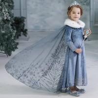 baju anak dress princess elsa series frozen II anak 2-4 tahun