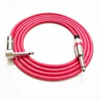 kabel gitar 3 meter canare merah Jack akay mono