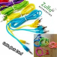 Kabel aux 2in1 / cable Jack 3.5mm audio RCA 2 in 1 Cabel Solid