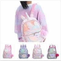 Tas Ransel Sequin Backpack Fashion Love Horn / Tas Sequin Like Justice