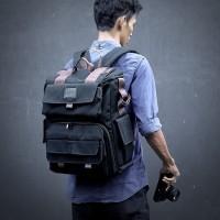 Tas Kamera Ransel HNX-014 BLACK - Backpack for Dslr / Macbook / Laptop