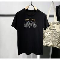 Kaos distro pria motor abstrak T-shirt pria Baju pria Atasan pria