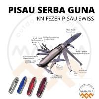 Knifezer Pisau Swiss Army Pocket Knife EDC Multifungsi 11 in 1