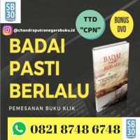 Buku BADAI PASTI BERLALU Chandra karya original plus DVD & TTD Chandra