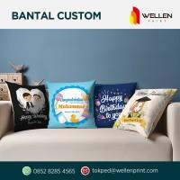 Print Custom Bantal Sofa Print / Printing Foto Souvenir Hadiah 40 x 40