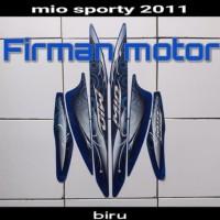 striping sticker list body mio sporty 2011 full body biru