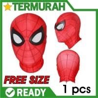 topeng spiderman kain bahan new mask spider man