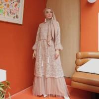 Humaira Dress Muslim / Dress Brukat Wanita / Baju Gamis Muslim