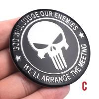 Emblem Sticker mobil motor Alumunium Type Skull Punisher 5cm