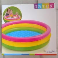"Kolam renang anak pompa intex ukuran 1.14m x 25cm (45"" x 10"")"