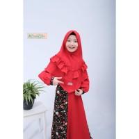 Gamis anak 6 7 8 9 10 tahun baju muslim anak perampuan set hijab syari