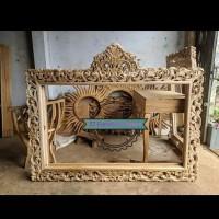 Figura/ cermin jati mentahan - Pigura besar tembok ukir Jepara