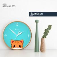 JAM DINDING UNIK / JAM LUCU / CAT /ANIMAL /KUCING /JAM ANAK/ VINDECO 3