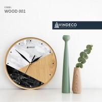 JAM DINDING KAYU / SCANDINAVIAN / HOME DECOR / VINDECO / WOOD 001