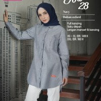 ATASAN NIBRAS NA 28 Tunik Muslim Wanita Panjang