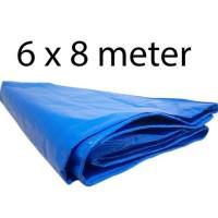 Terpal Biru Super Besar 6 X 8 Meter Plastik Kolam Penut