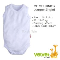 Velvet Junior JUMPER SINGLET Bayi Size L (9-12M) Kaos Dalam Baju Kodok