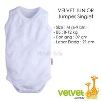 Velvet Junior JUMPER SINGLET Bayi Size M (6-9 M) Kaos Dalam Baju Kodok
