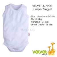 Velvet Junior JUMPER SINGLET Bayi Size NEWBORN Kaos Dalam Baju Kodok