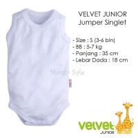 Velvet Junior JUMPER SINGLET Bayi Size S (3-6 M) Kaos Dalam Baju Kodok