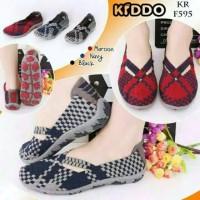 Sepatu Wanita Kiddo Original Flat 595 / 569 Rajut Anyaman