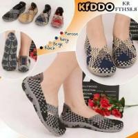Sepatu Anyaman Kiddo Flat F TH 58 8 PREMIUM IMPORT Wanita Rajut Origi