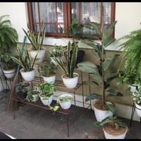 Rak Besi Dekorasi Pot Bunga Tanaman Hias 3 Tingkat Awet Anti Karat