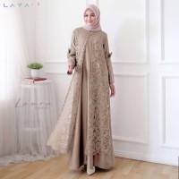 Baju Gamis Syari Wanita Terbaru Laura Maxi / Gamis Wanita Termurah - Merah