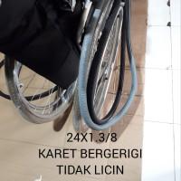 ban belakang kursi roda karet mati asli