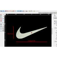Patch Emblem Bordir Logo Nike di Toko Agenforedijogja Ukuran 37 x 14cm