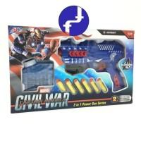 mainan anak Tembakan Marvel captain america Civil War avengers