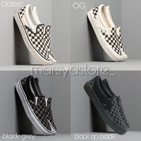 Grade Original! Sepatu Vans Slip On Checkerboard / Catur (Free Box)