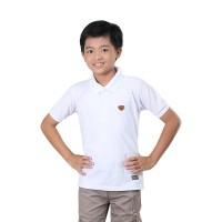baju kerah anak laki laki putih polos kaos pendek anak pria KID