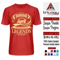 KAOS MY LIFE BEGINS IN APRIL THE BIRTH OF LEGENDS REAL COTTON COMBED