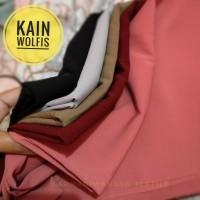 Kain Wolfis Premium bahan polyester Lembut Anti Bercak bercak